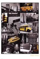 "New York (Collage) - 24"" x 36"""