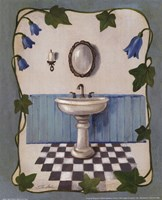 "Bell Flower Bath II on Ivory by Silvia Vassileva - 8"" x 10"", FulcrumGallery.com brand"