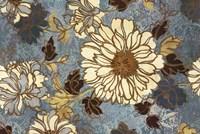 Sophias Flowers Blue Fine Art Print
