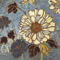 "Sophias Flowers II - Blue by Wild Apple Studio - 18"" x 18"", FulcrumGallery.com brand"