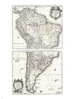 1730 Covens and Mortier Map of South America Fine Art Print