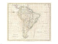 1799 Far Clement Cruttwell Map of South America, 1799 - various sizes