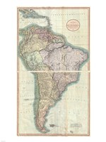 1807 Close up Cary Map of South America, 1807 - various sizes