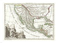 1810 Tardieu Map of Mexico, Texas and California Fine Art Print