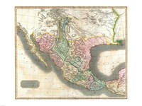 1814 Thomson Map of Mexico and Texas, 1814 - various sizes