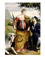 Saint Justina with the Unicorn Fine Art Print