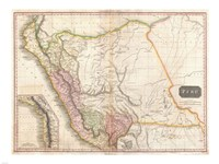 1818 Pinkerton Map of Peru, 1818 - various sizes