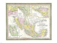 1850 Mitchell Map of Mexico Texas, 1850 - various sizes