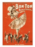 Bon-Ton Burlesquers Vertical Fine Art Print