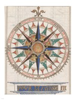 Guillaume Brouscon Compass France, 1543 Fine Art Print