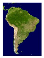 South America - Blue Marble Orthographic - various sizes