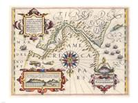 Strait of Magellan by Jodocus Hondius - various sizes