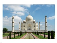 Taj Mahal, Agra, India With Green Trees Framed Print