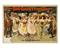 The Gaiety Dancers Fine Art Print