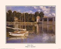 The Bridge at Argenteuil, c.1874 Framed Print