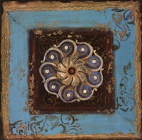 """Excotic Medallion I by s - 20"""" x 20"""""""