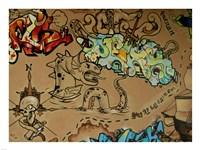Graffiti Skulls Fine Art Print