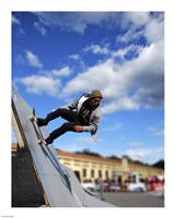 """Skater In Florence On Ramp - 8"""" x 10"""""""