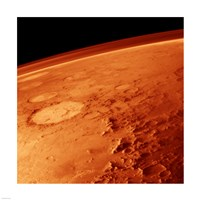Smiley Face Crater on Mars Fine Art Print
