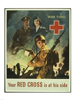 Your Red Cross is at His Side Fine Art Print