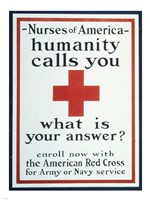 Nurses of America Humanity Calls You Enroll now with the Red Cross Fine Art Print