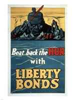 Beat Back the Hun with Liberty Bonds Fine Art Print