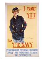 I Want You for the Navy Framed Print