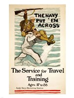Navy Recruitment Poster Framed Print