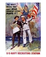 Don't Read American, History Make It! Fine Art Print