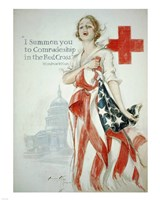 Harrison Fisher WWI American Red Cross Poster Framed Print