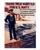 Navy Recruiting Poster, 1909 Fine Art Print
