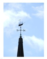Sailing Ship Weathervane Fine Art Print