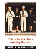Team Sweeping the Seas Fine Art Print