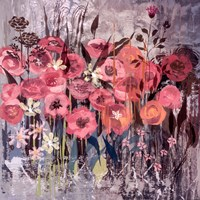 "Pink Floral Frenzy I by Alan Hopfensperger - 18"" x 18"""