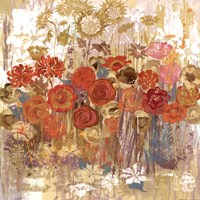 "Floral Frenzy I - orange by Alan Hopfensperger - 18"" x 18"""