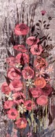 "Pink Floral Frenzy III by Alan Hopfensperger - 8"" x 20"""