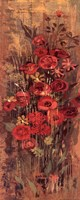 "Floral Frenzy Red III by Alan Hopfensperger - 8"" x 20"""