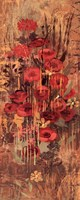 "Floral Frenzy Red IV by Alan Hopfensperger - 8"" x 20"""