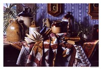 """Crocks on a Quilt by Daniel K. Tennant - 19"""" x 13"""""""