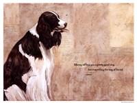 Pretty Good Dog Framed Print