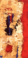 """Red Confusion I by Jada - 12"""" x 24"""""""