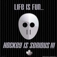 Hockey is Serious Framed Print