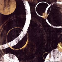"Circles I by Jennifer Pugh - 6"" x 6"""