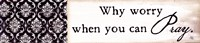 "Why Worry by Jennifer Pugh - 18"" x 4"""