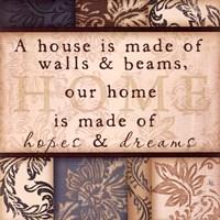 Home, Hopes & Dreams Framed Print