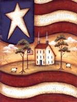 Folk Flag Fine Art Print