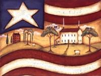 Folk Flag II Fine Art Print