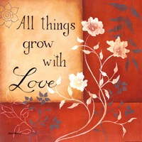 """Grow With Love by Kim Lewis - 12"""" x 12"""" - $9.99"""