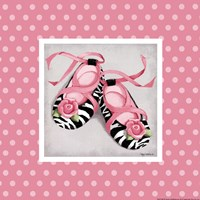 "Wild Child Ballet Slippers by Kathy Middlebrook - 8"" x 8"", FulcrumGallery.com brand"