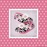 "Wild Child Flip Flops by Kathy Middlebrook - 8"" x 8"", FulcrumGallery.com brand"